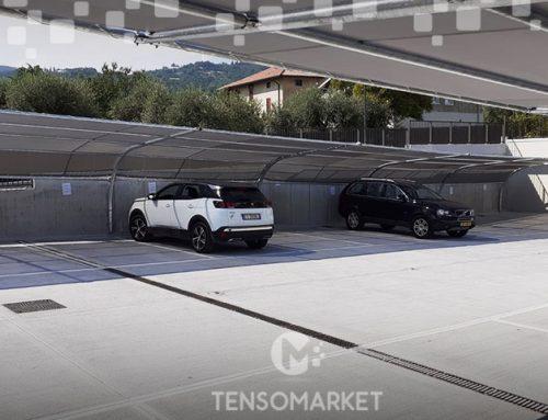 Antigrandine Auto: le tettoie antigrandine modulari per grandi parcheggi coperti