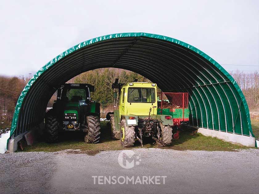 tunnel agricolo per rimessa trattori