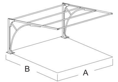 carport in ferro singolo