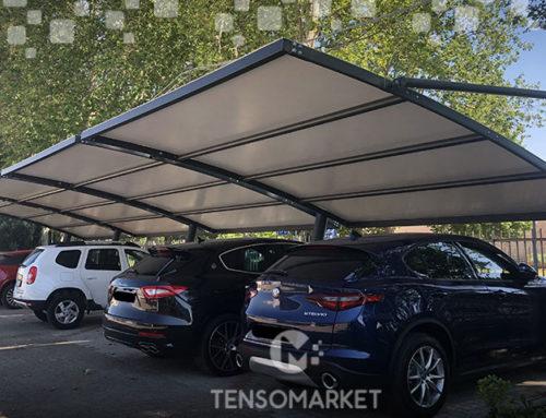 Come realizzare un parcheggio coperto con i carport modulari Tensomarket