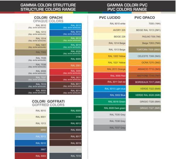 colori telo carport in ferro ts10