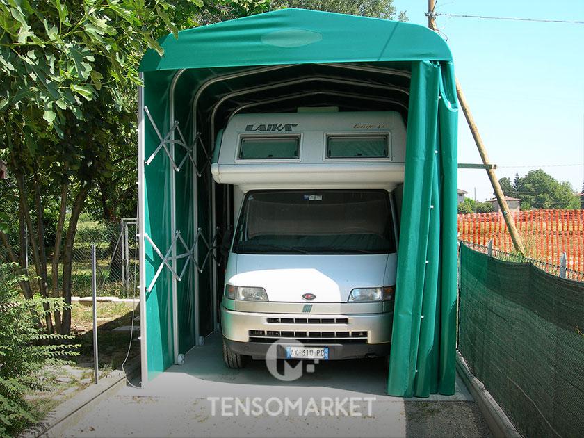 tettoia per autolavaggi