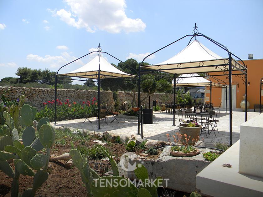 gazebo da giardino barocco liberty