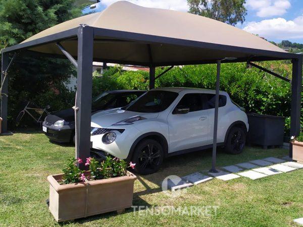 gazebo per auto da giardino