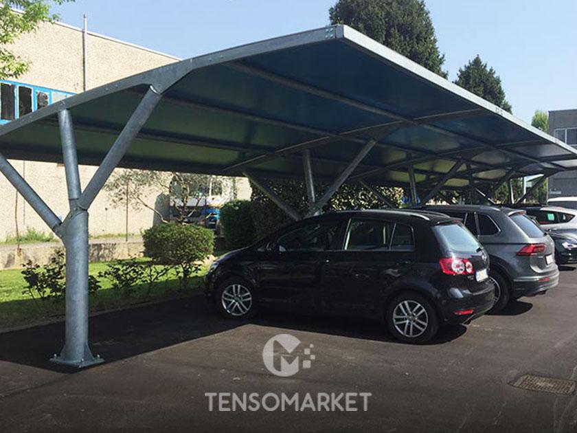tettoia per parcheggio aziendale