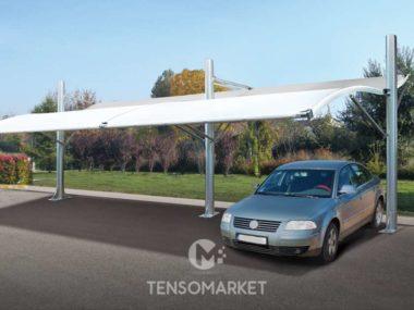 tettoia per auto in ferro TS12