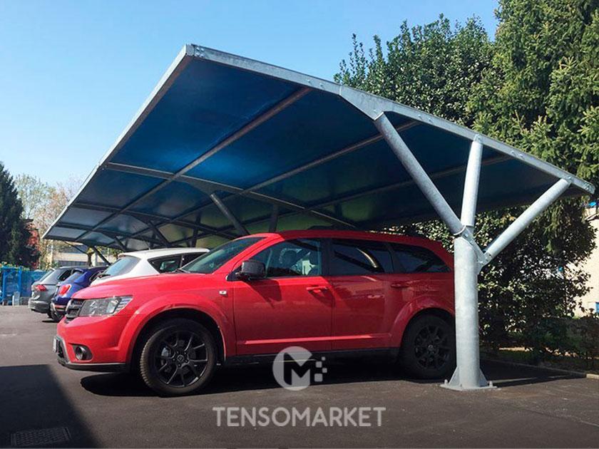 tettoia auto per copertura file parcheggi