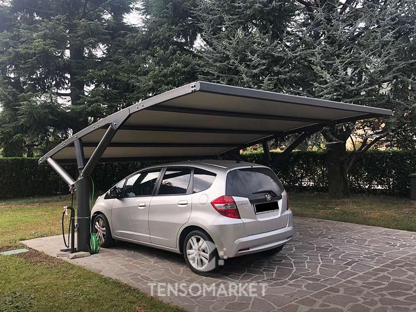 tettoie ferro per auto